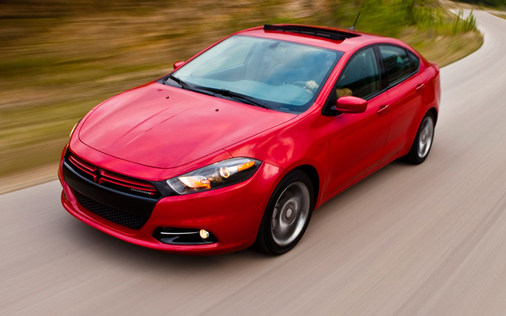 Red 2013 Dodge Dart Front