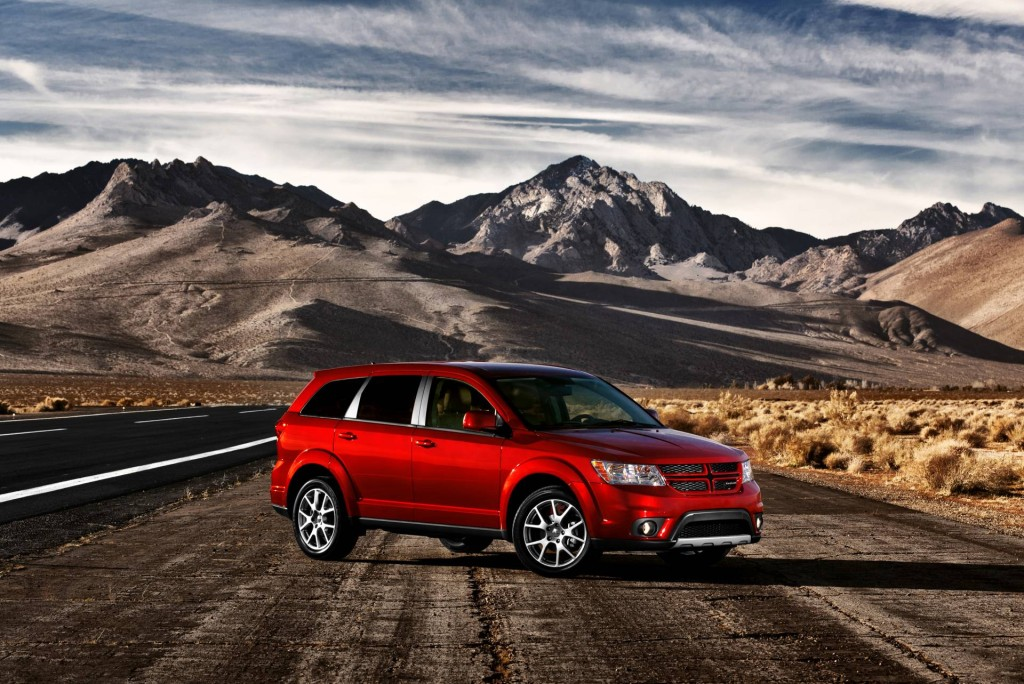 Red 2013 Dodge Journey