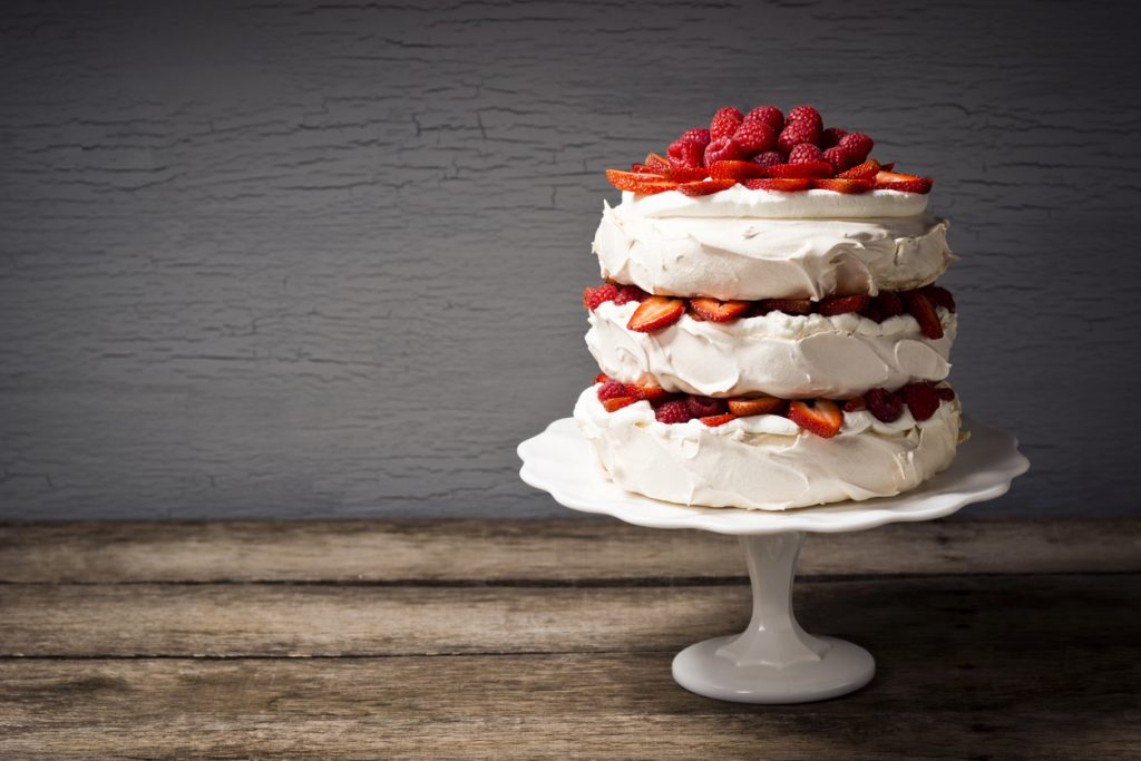 Layered Strawberry Cake