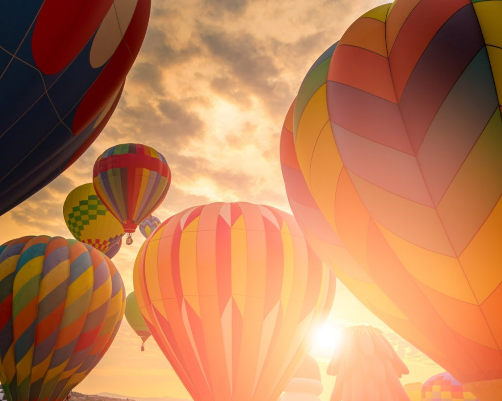 Hot air balloons for July festival